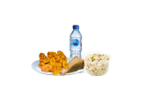 Moi Moi & Plantain With Coleslaw And Water