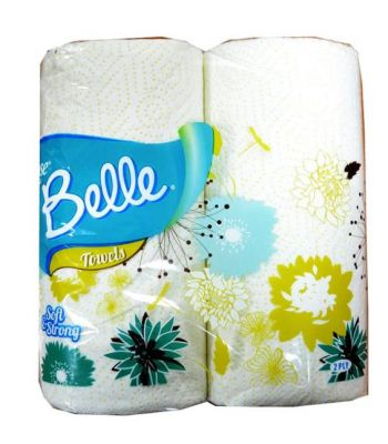 Household Toilet Rolls Tissues Rose Belle Kitchen Twin Towels 2 Ply